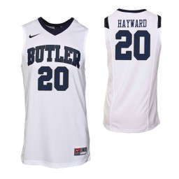 Youth Butler Bulldogs #20 Gordon Hayward Authentic College Basketball Jersey White