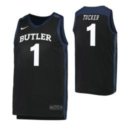 Youth Butler Bulldogs #1 Jordan Tucker Black Authentic College Basketball Jersey