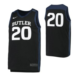 Butler Bulldogs #20 Authentic College Basketball Jersey Black