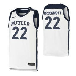 Youth Butler Bulldogs #22 Sean McDermott White Authentic College Basketball Jersey