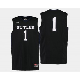 Youth Butler Bulldogs #1 Tyler Lewis Black Road Authentic College Basketball Jersey