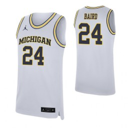 Youth C.J. Baird Authentic College Basketball Jersey White Michigan Wolverines