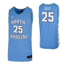 Caleb Ellis Authentic College Basketball Jersey Carolina Blue North Carolina Tar Heels