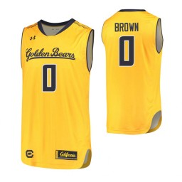 California Golden Bears #0 Jaylen Brown Authentic College Basketball Jersey Gold