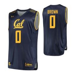 California Golden Bears #0 Jaylen Brown Authentic College Basketball Jersey Navy
