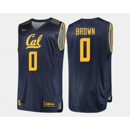 California Golden Bears #0 Jaylen Brown Navy Road Authentic College Basketball Jersey