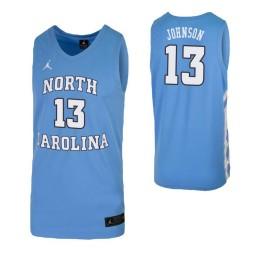 Cameron Johnson Authentic College Basketball Jersey Carolina Blue North Carolina Tar Heels