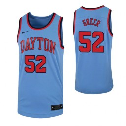Camron Greer Authentic College Basketball Jersey Light Blue Dayton Flyers