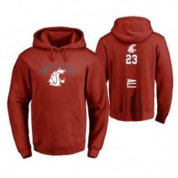Washington State Cougars #23 Ahmed Ali Men's Cardinal College Basketball Hoodie
