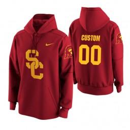 USC Trojans #00 Custom Men's Cardinal College Basketball Hoodie