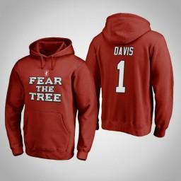 Stanford Cardinal #1 Daejon Davis Men's Cardinal Team Hometown Collection Pullover Hoodie