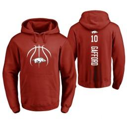 Arkansas Razorbacks #10 Daniel Gafford Men's Cardinal College Basketball Hoodie