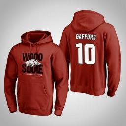 Arkansas Razorbacks #10 Daniel Gafford Men's Cardinal Team Hometown Collection Pullover Hoodie