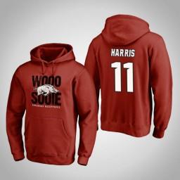 Arkansas Razorbacks #11 Jalen Harris Men's Cardinal Team Hometown Collection Pullover Hoodie