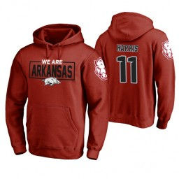 Arkansas Razorbacks #11 Jalen Harris Men's Cardinal College Basketball Hoodie