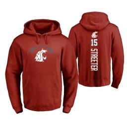Washington State Cougars #15 James Streeter Men's Cardinal College Basketball Hoodie