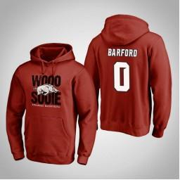 Arkansas Razorbacks #0 Jaylen Barford Men's Cardinal Team Hometown Collection Pullover Hoodie