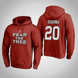 Stanford Cardinal #20 Josh Sharma Men's Cardinal Team Hometown Collection Pullover Hoodie