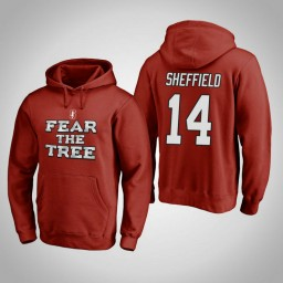 Stanford Cardinal #14 Marcus Sheffield Men's Cardinal Team Hometown Collection Pullover Hoodie