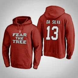 Stanford Cardinal #13 Oscar da Silva Men's Cardinal Team Hometown Collection Pullover Hoodie