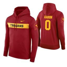 USC Trojans #0 Shaqquan Aaron Men's Cardinal Pullover Hoodie