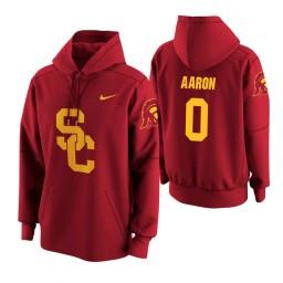 USC Trojans #0 Shaqquan Aaron Men's Cardinal College Basketball Hoodie