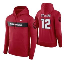 Arkansas Razorbacks #12 Ty Stevens Men's Cardinal Pullover Hoodie