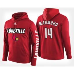 Louisville Cardinals #14 Anas Mahmoud Red Hoodie College Basketball