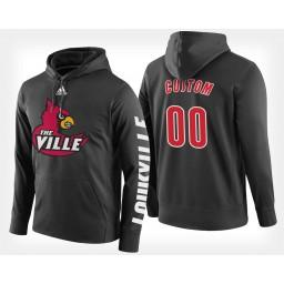 Louisville Cardinals #00 Custom Black Hoodie College Basketball