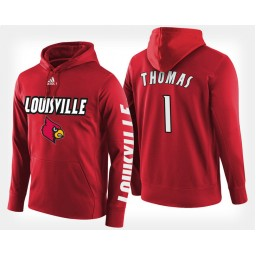 Louisville Cardinals #1 Lance Thomas Red Hoodie College Basketball