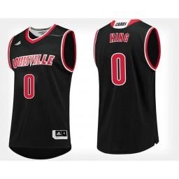 Women's Louisville Cardinals #0 V.J. King Black Alternate Authentic College Basketball Jersey