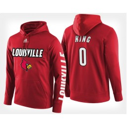 Louisville Cardinals #0 V.J. King Red Hoodie College Basketball