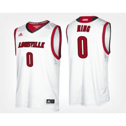 Women's Louisville Cardinals #0 V.J. King White Road Authentic College Basketball Jersey