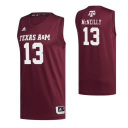 Women's Texas A&M Aggies 13 Cashius McNeilly Authentic College Basketball Jersey Maroon