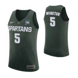 Michigan State Spartans #5 Cassius Winston Green Authentic College Basketball Jersey