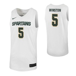 Women's Cassius Winston Authentic College Basketball Jersey White Michigan State Spartans