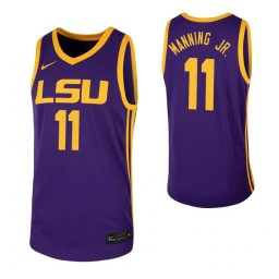 LSU Tigers #11 Charles Manning Jr. Purple Authentic College Basketball Jersey
