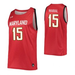 Women's Maryland Terrapins #15 Chol Marial Red Authentic College Basketball Jersey