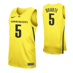 Youth Chris Duarte Authentic College Basketball Jersey Yellow Oregon Ducks