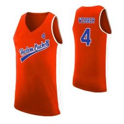 Women's Harlem Buckets #4 Chris Webber Orange Authentic College Basketball Jersey