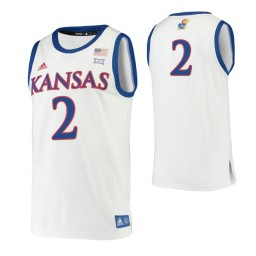 Youth Christian Braun Kansas Jayhawks White Authentic College Basketball Jersey