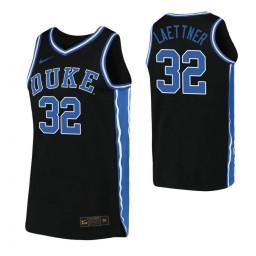 Women's Christian Laettner Authentic College Basketball Jersey Black Duke Blue Devils