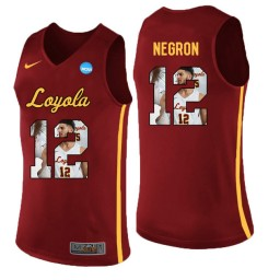 Women's Loyola (Chi) Ramblers #12 Christian Negron Authentic College Basketball Jersey Red