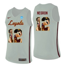 Women's Loyola (Chi) Ramblers #12 Christian Negron Authentic College Basketball Jersey White
