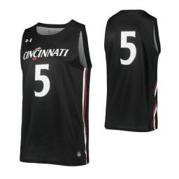 Cincinnati Bearcats #5 Authentic College Basketball Jersey Black