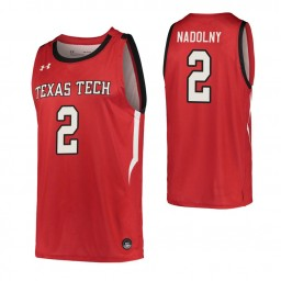 Youth Clarence Nadolny Authentic College Basketball Jersey Red Texas Tech Red Raiders