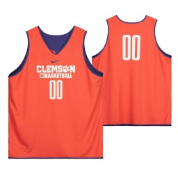 Clemson Tigers Orange Team-Issued #0 Authentic College Basketball Jersey from the Basketball Program