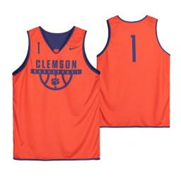 Clemson Tigers Orange Team-Issued #1 Authentic College Basketball Jersey from the Basketball Program
