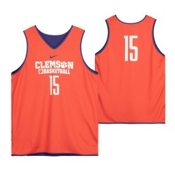 Clemson Tigers Orange Team-Issued #15 Authentic College Basketball Jersey from the Basketball Program
