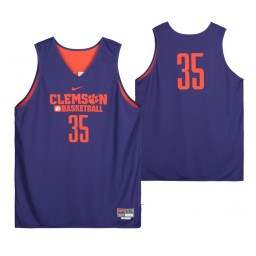 Clemson Tigers Purple Team-Issued #35 Authentic College Basketball Jersey from the Basketball Program